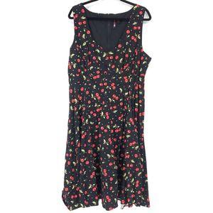 Retro Chic By Torrid 22 Fit & Flare Dress Cherries